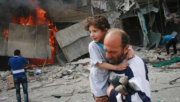 تصویر حملات خمپاره ای و کشتار مردم حلب سوریه، توسط سلفی ها