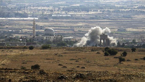 تصویر دفع کوبنده ی حمله ی تروریستها به قنیطره توسط ارتش سوریه