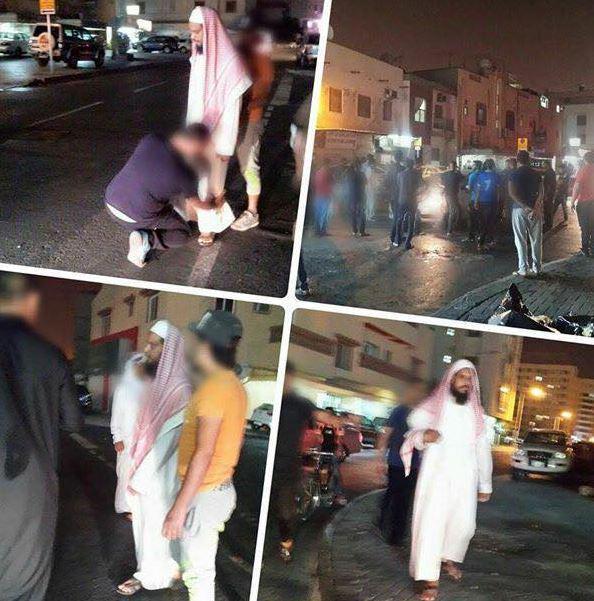 تصویر دستگیری یک فرد مشکوک ، توسط کمیته محافظت محلی بحرین