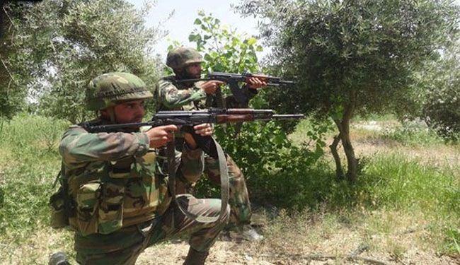 تصویر هلاکت تعدادی از تروریست های النصره ، در کمین ارتش سوریه