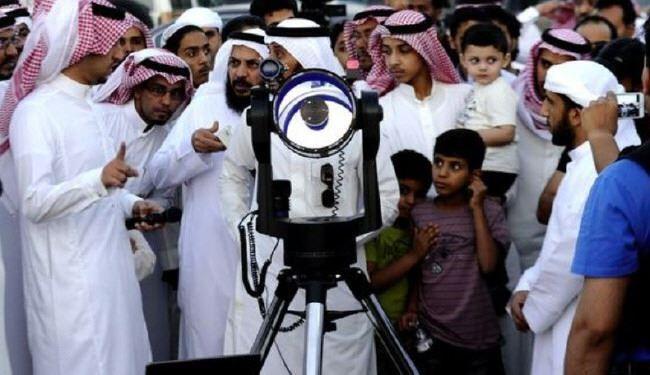 تصویر اشتباه مفتی های وهابی در اعلام عید فطر
