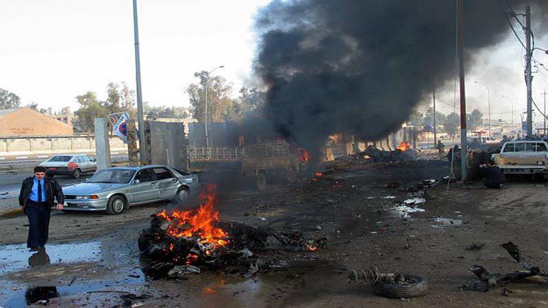 تصویر ٦٥ قربانى در حمله دو عامل انتحاری به استخری در شمال عراق