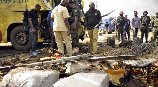 تصویر انفجار انتحاری در بازار شهر داماتورو در شمال شرق نیجریه