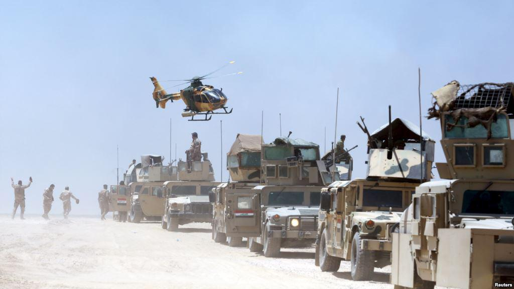 تصویر آغاز مرحله دوم عملیات ارتش عراق برای ورود به الرمادی