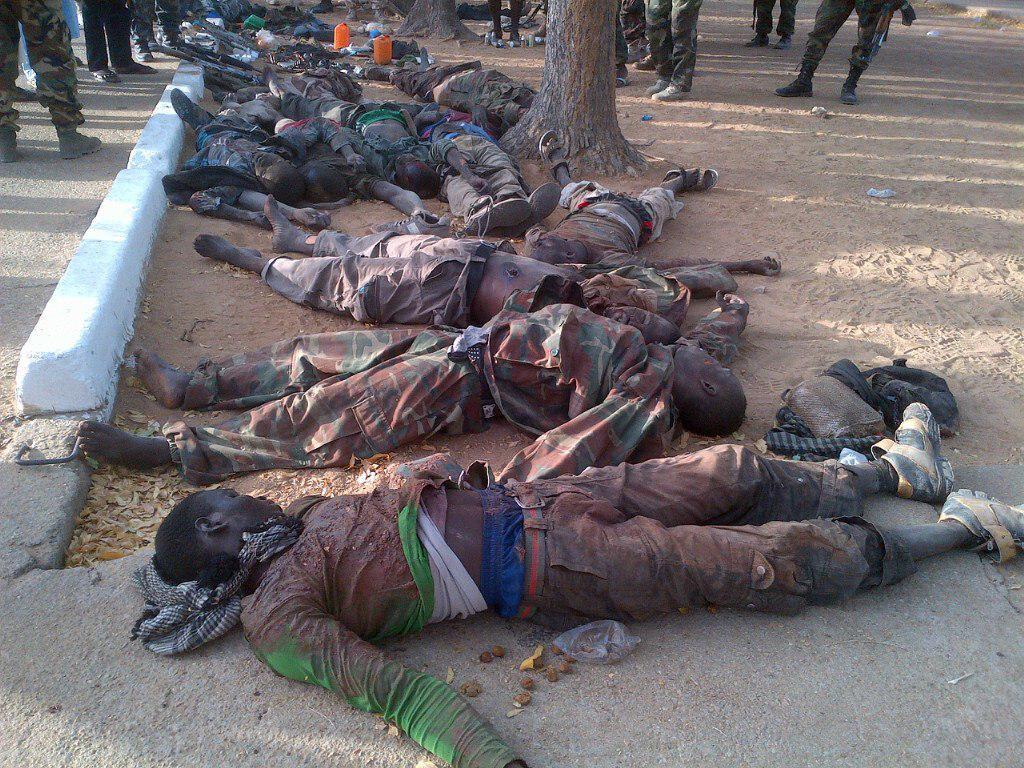 تصویر 117 تروریست بوکوحرام در عملیات ارتش چاد به هلاکت رسیدند