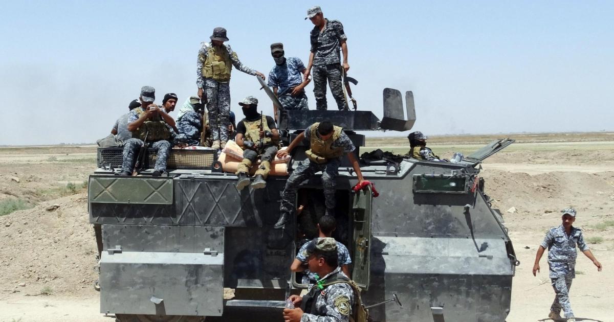 تصویر درگیری های شدید در شرق شهر رمادی عراق