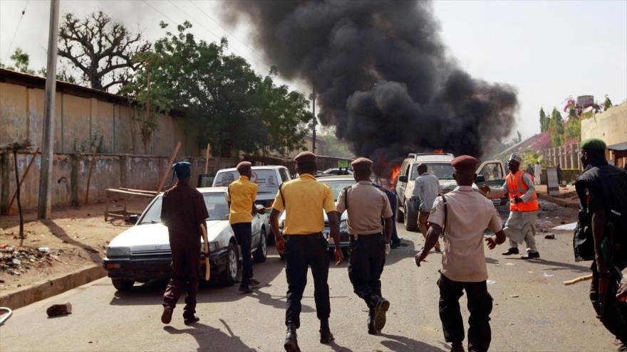 تصویر قربانى شدن ۴۷ نفر در انفجاری تروریستی، در نیجریه