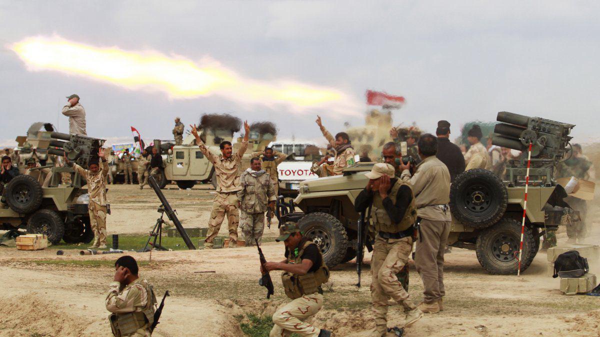 تصویر انهدام تونل یک کیلومتری داعش در فلوجه