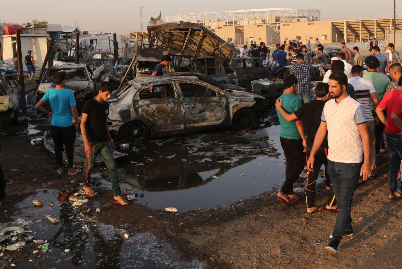 تصویر پنج انفجار همزمان بغداد را لرزاند