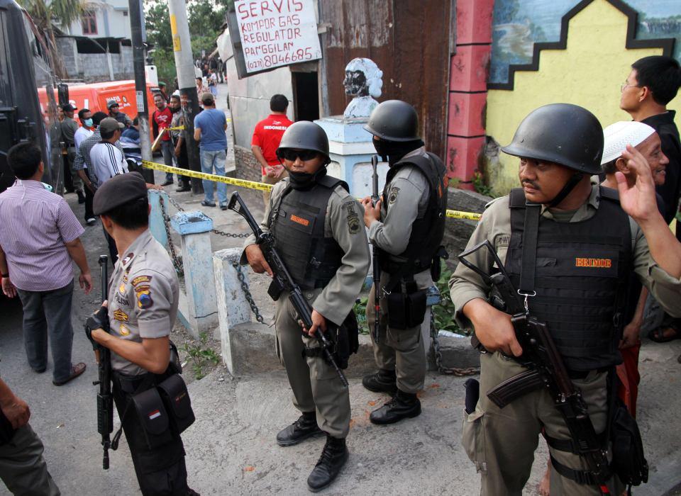 تصویر افزایش اقدامات امنیتی ومقابله با تروریست ها در اندونزی