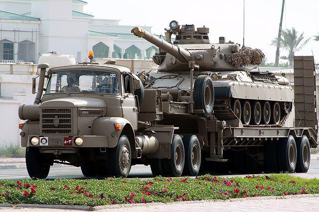 تصویر حرکت نظامیان قطری برای پیوستن به عربستان در مرز با یمن