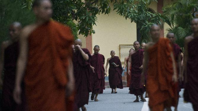 تصویر شادمانی افراطگرایان بودایی میانمار از حذف مسلمانان از انتخابات