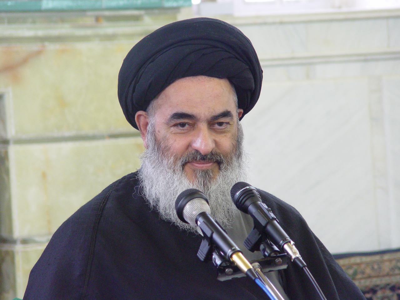 تصویر آغاز درس خارج فقه حضرت آيت الله العظمى شيرازى، در شهر قم
