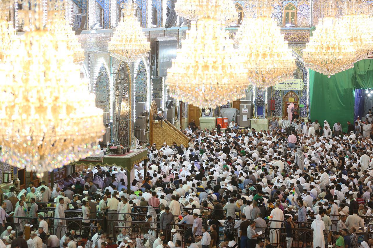 تصویر ورود میلیون ها زائر به شهر مقدس کربلا در روز عرفه