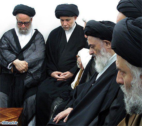 تصویر برپایی خیمه عزای حضرت مسلم بن عقیل علیه السلام در بیت آیت الله العظمی شیرازی