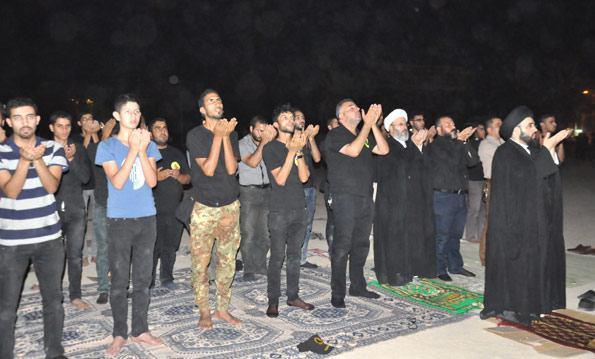تصویر بازدید نماینده دفتر مرجعیت، از مقر گردان کتائب امام علی علیه السلام