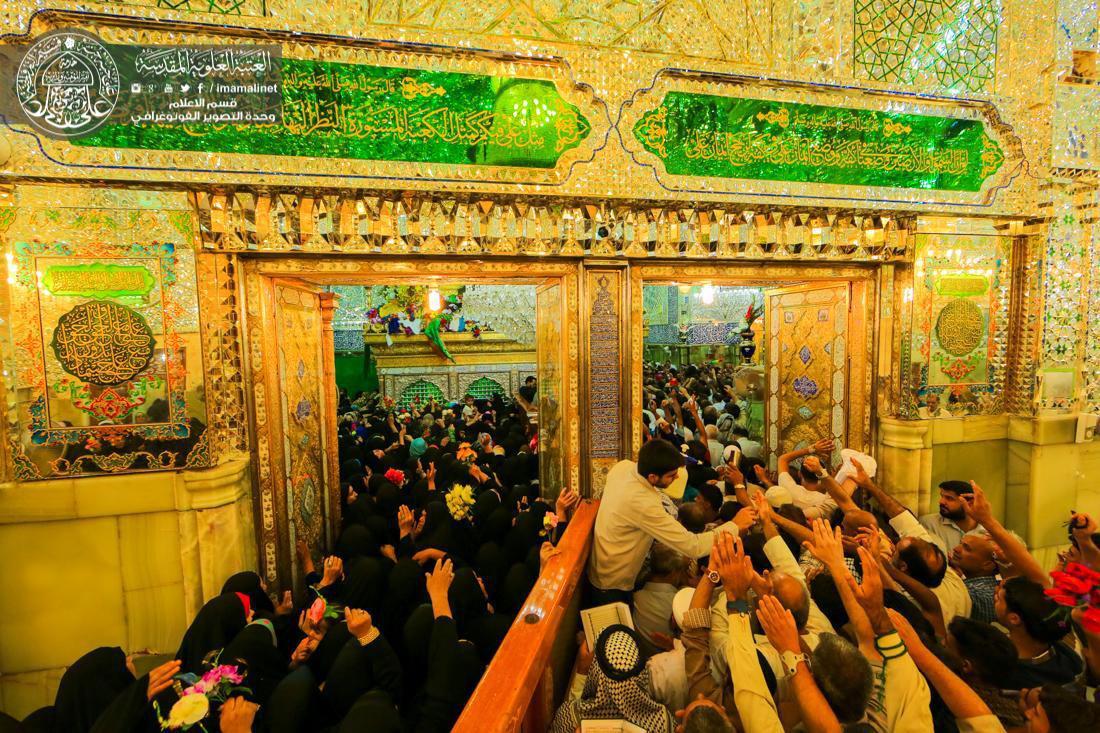 تصویر تجديد بیعت ميليون ها زائر با امير مؤمنان، در روز غدير، در نجف اشرف