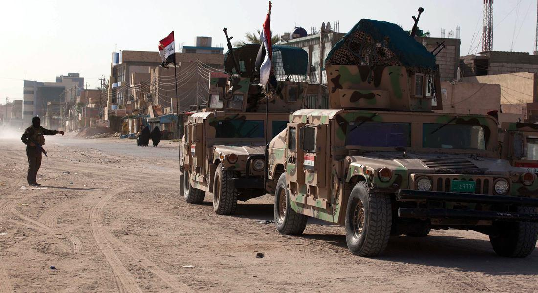 تصویر پاكسازى منطقه «لاين» در غرب سامرا، از وجود داعش