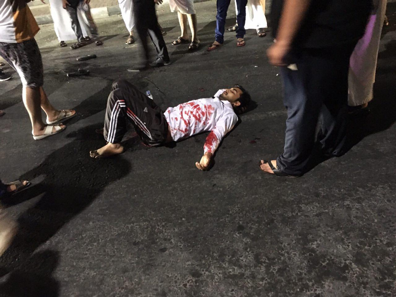تصویر حمله افراد مسلح به منطقه شيعه نشين سيهات در شرق عربستان سعودى