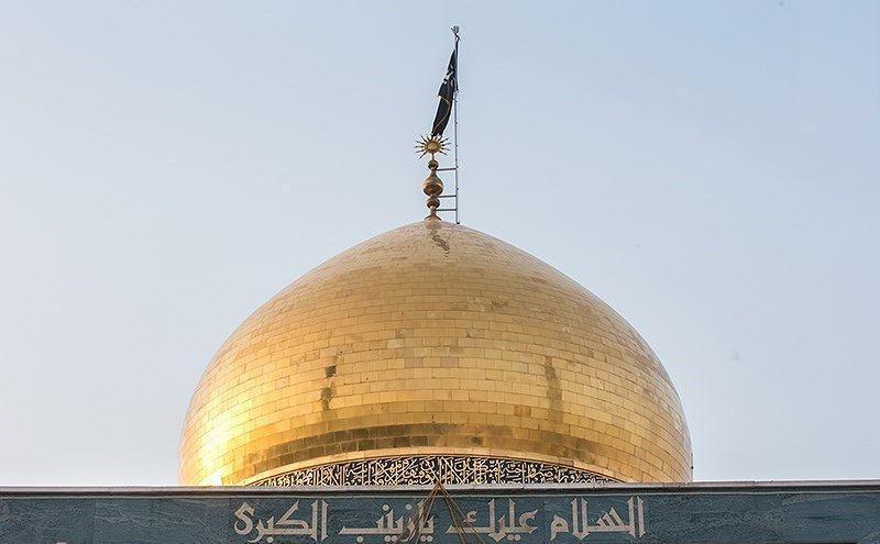 تصویر حملات خمپاره ای تروریست ها به اطراف حرم حضرت زینب سلام الله علیها
