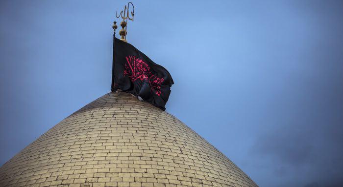 تصویر جانفشانى امام حسين عليه السلام عامل برپايى دين