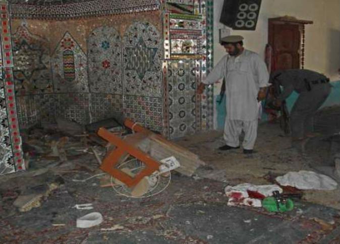 تصویر حمله راکتی به مسجدی در ولایت ننگرهار افغانستان