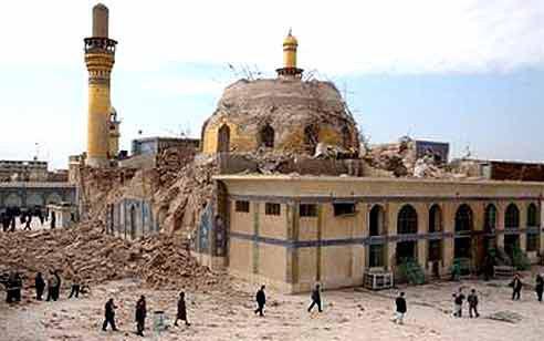 تصویر دهمین سالگرد تخریب حرم امامین عسکریین، به دست تروریست های تکفیری