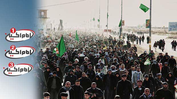 تصویر انعکاس بزرگترین تجمع بشری توسط مجموعه رسانه ای امام حسین علیه السلام و ارائه فيد رايگان به شبكه هاى ماهواره اى