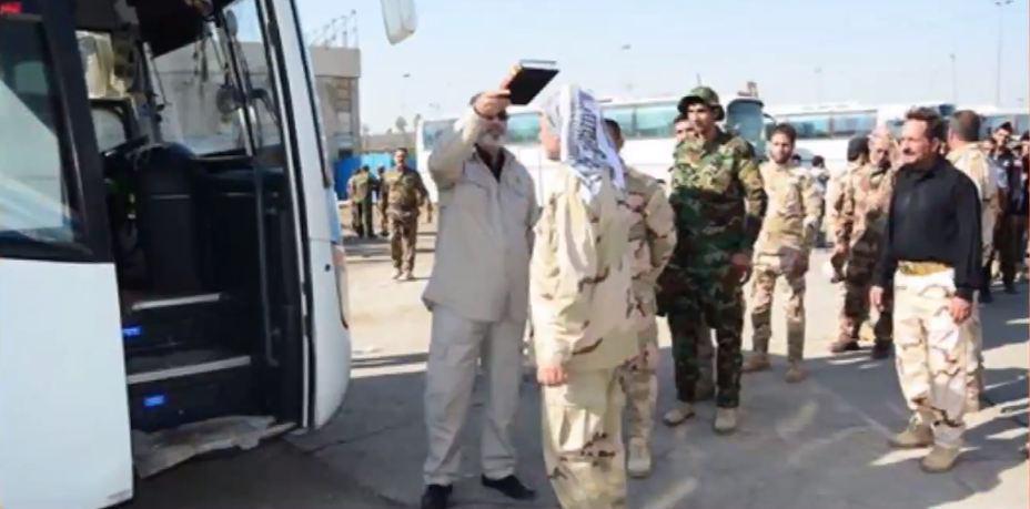 تصویر اعزام نیروهای جدید مدافع عتبات عالیات به جبهه های نبرد