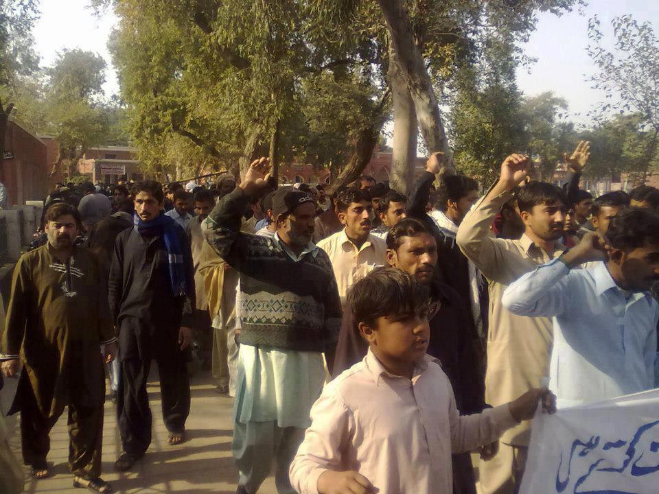 تصویر تظاهرات شهروندان کویته در اعتراض به قتل عام شیعیان افغانستان
