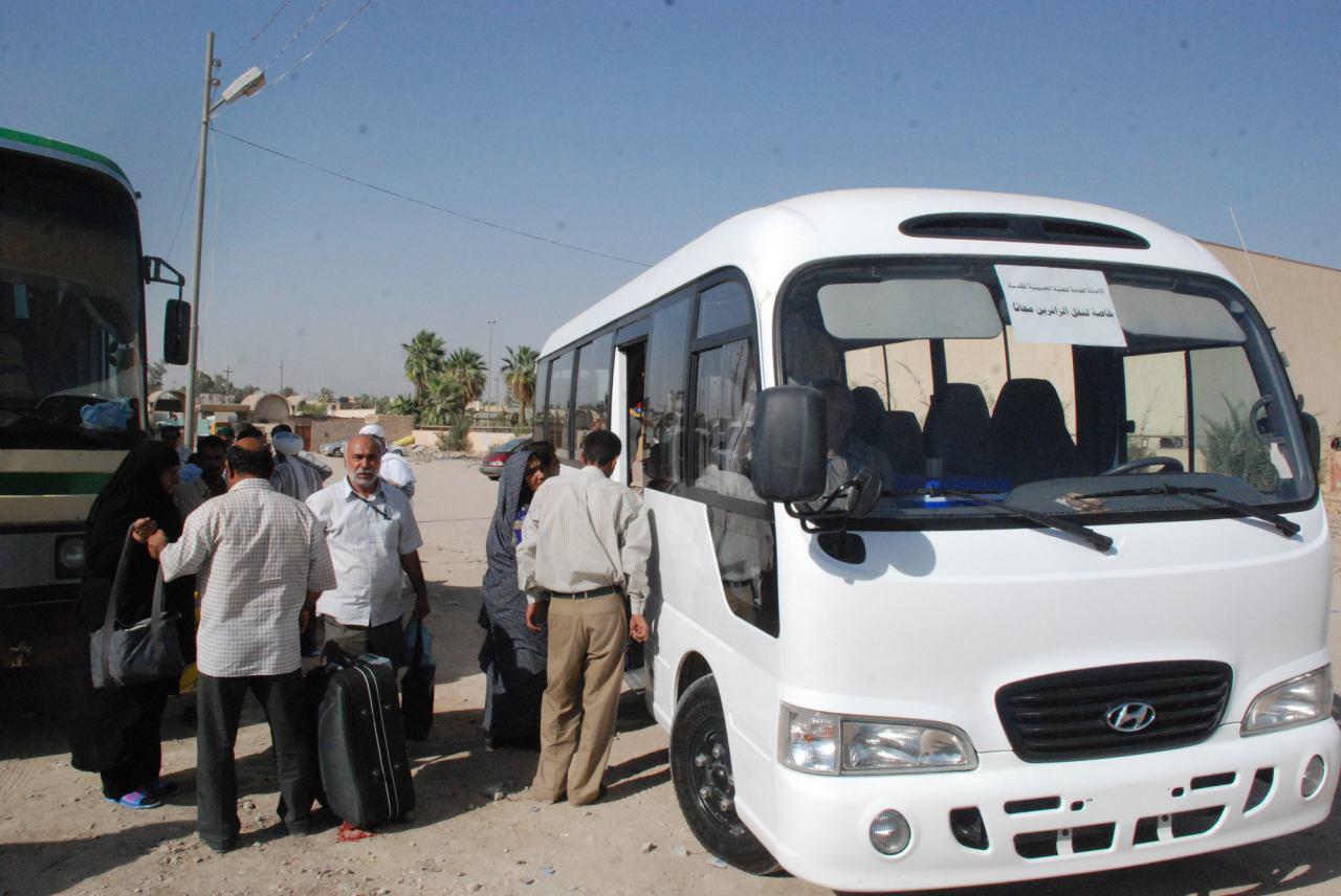 تصویر ارائه خدمات به ميليون ها زائر خارجى اربعین حسینی، در كشور عراق