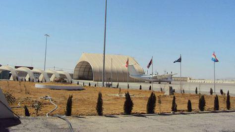 تصویر حمله تروریست های طالبان به فرودگاه بینالمللی قندهار