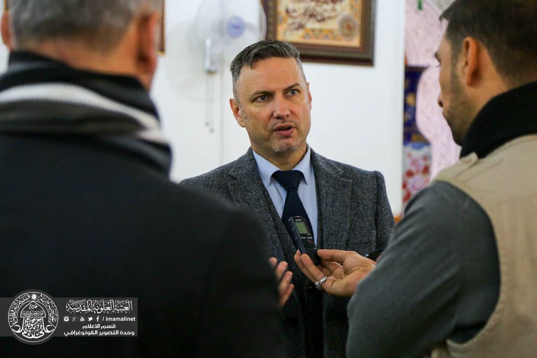 تصویر نماینده کمیساریای عالی حقوق بشر : اميرالمومنين علی علیه السلام، بنیان گذار مبانی اساسی حقوق بشر است