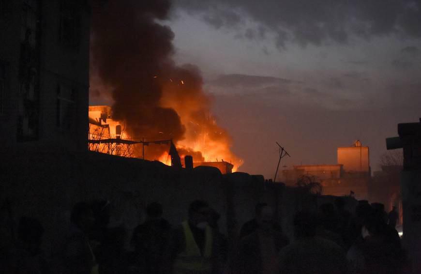 تصویر انفجار یک خودروی بمبگذاری شده در کابل، پایتخت افغانستان