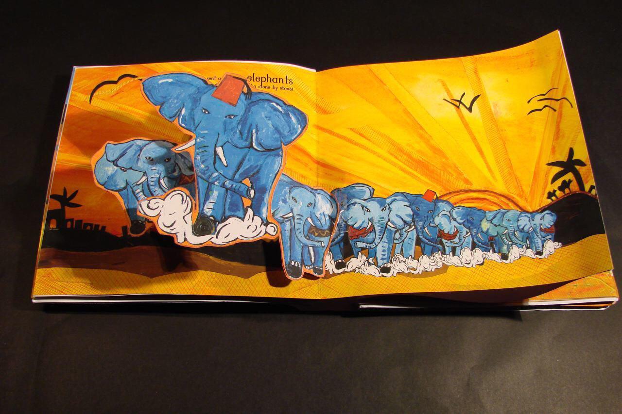 تصویر روایت قصه های قرآنی با زبان هنر، توسط بانوی مسلمان بریتانیایی