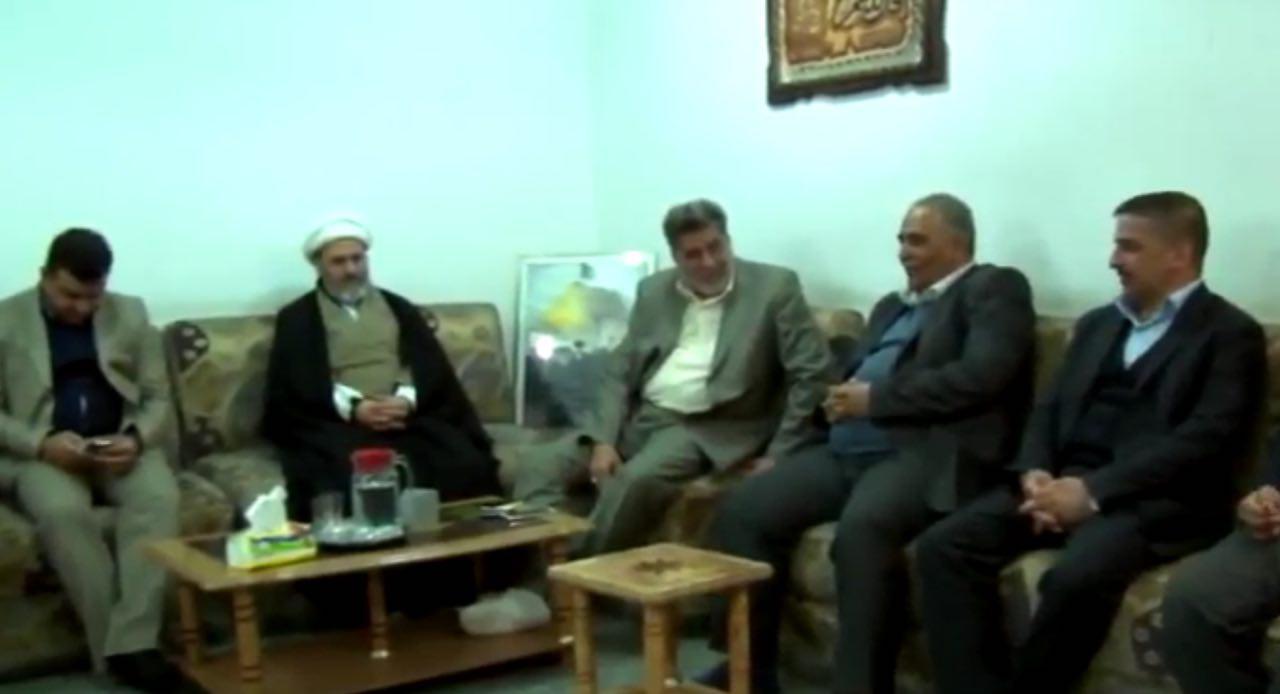 تصویر دیدار مسئولین نهادهای خدمت رسانی شهر مقدس کربلا، با مدیر روابط عمومی دفتر آیت الله  العظمى شيرازى