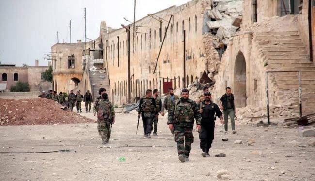 تصویر تسلط ارتش سوریه بر شهر باستانی قریتین، پس از پنج ماه