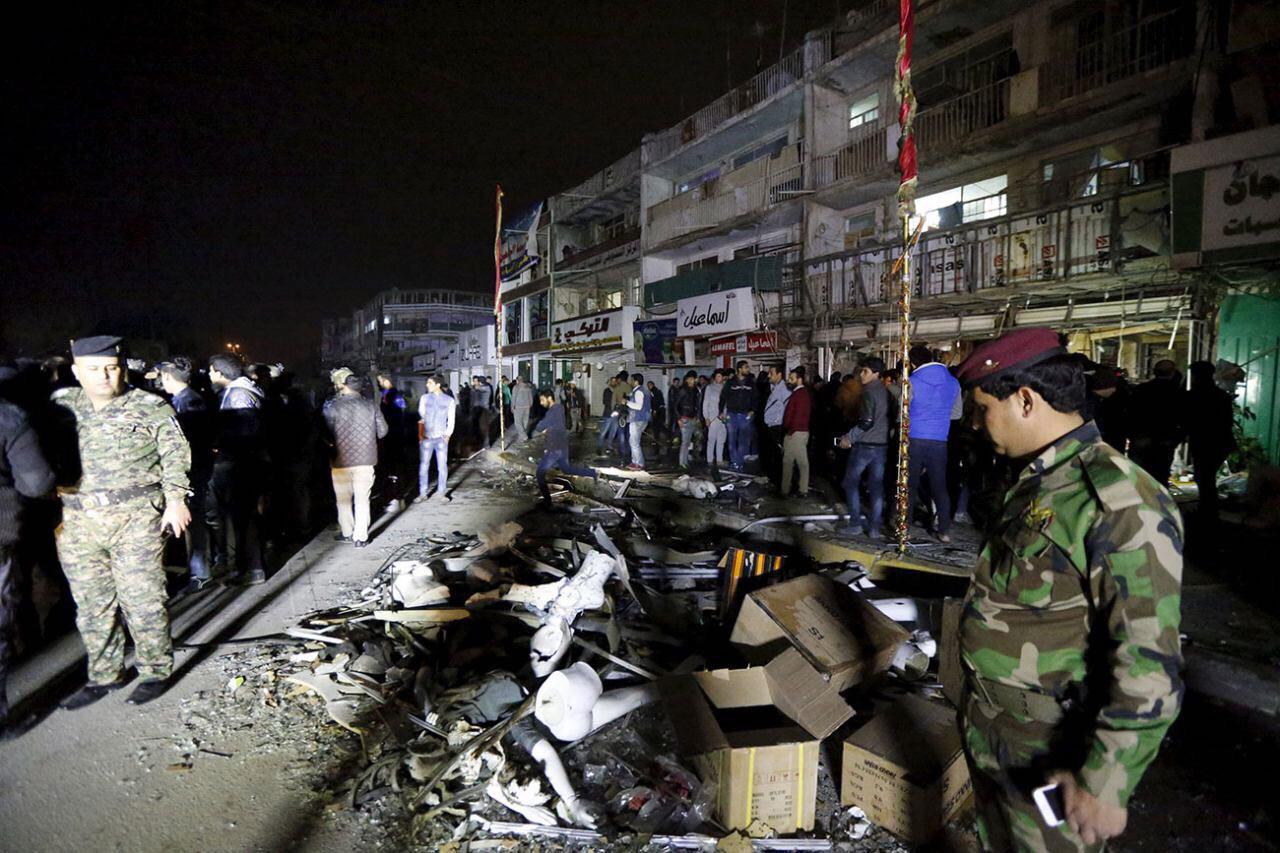 تصویر حملات تروریستی و گروگان گيرى در منطقه شیعه نشین  بغداد
