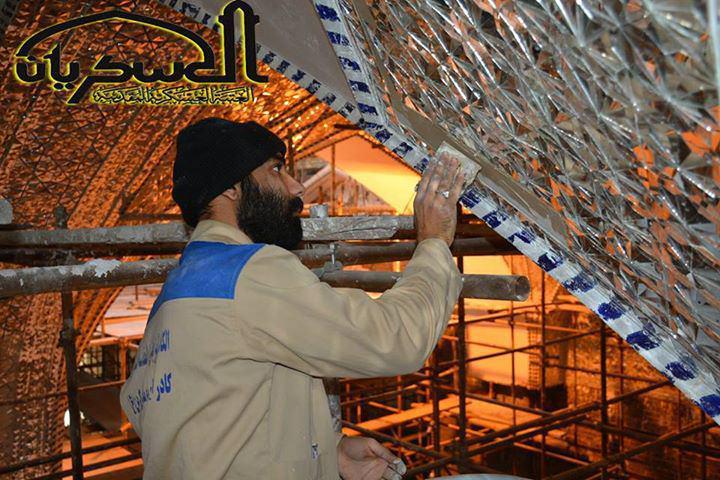 تصویر گزارش تصویری-ادامه مراحل بازسازی حرم شریف عسکریین علیهم السلام در شهر سامرا