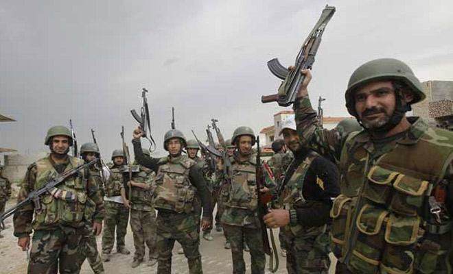 تصویر پیشروی گسترده نیروهای ارتش سوریه در استان حلب