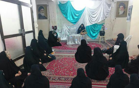 تصویر جشن ولادت عقیله بنی هاشم علیها السلام در حوزه بانوان کربلا