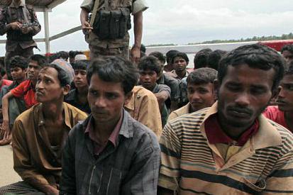 تصویر مسمومیت مسلمانان میانمار توسط بودائیان