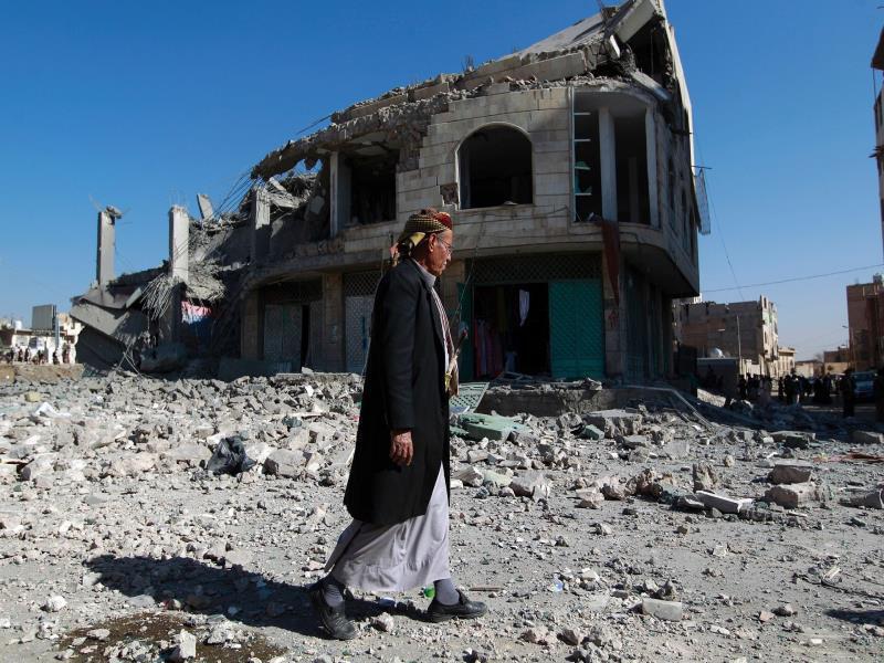 تصویر گذشت يكسال از حمله عربستان به يمن