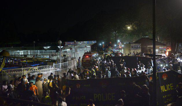 تصویر وقوع انفجار مهيب در لاهور پاکستان