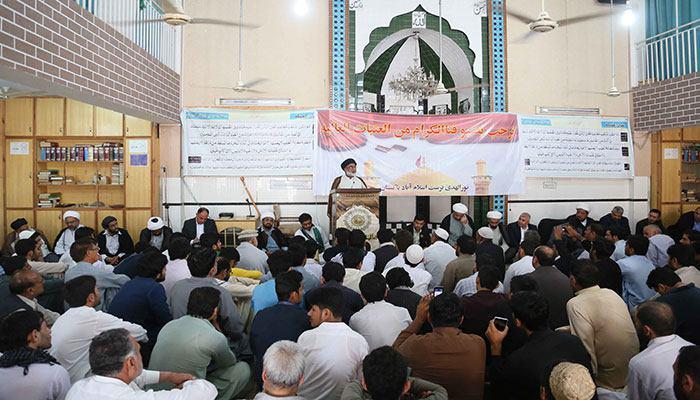 تصویر رئیس دانشگاه امام رضا علیه السلام پاکستان: آماده دفاع از عتبات مقدس هستیم