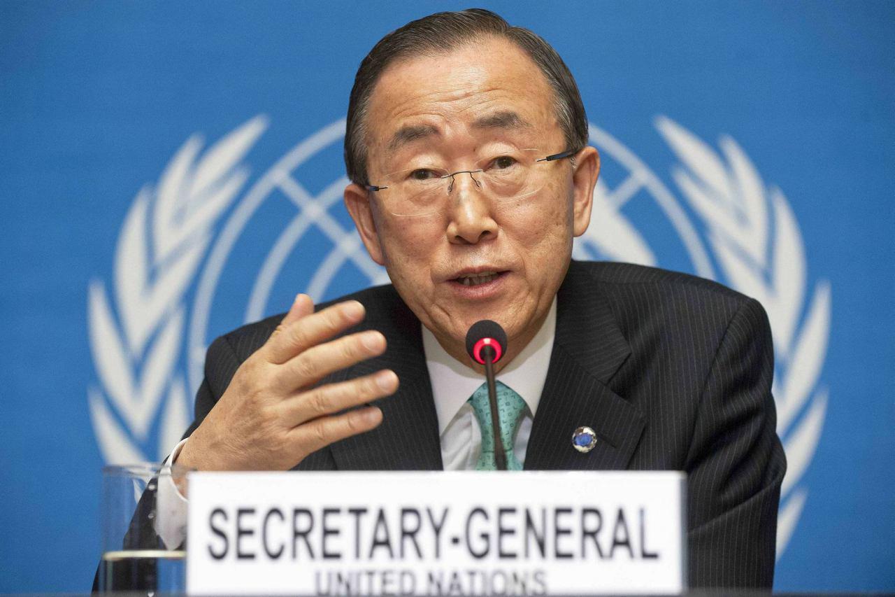 تصویر دبیرکل سازمان ملل: بیشتر قربانیان تروریسم مسلمانان هستند