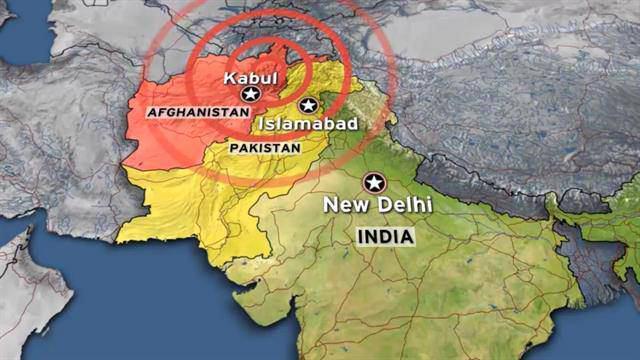 تصویر وقوع زمين لرزه شديد در افغانستان ، پاكستان و هند