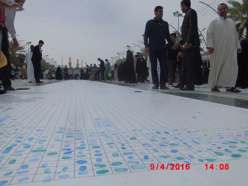 تصویر کمپین جمع آوری ۷۵۰ هزار اثر انگشت از زائران شهر مقدس كربلا