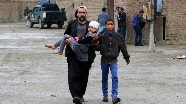 تصویر وقوع انفجاری مهیب در پایتخت افغانستان
