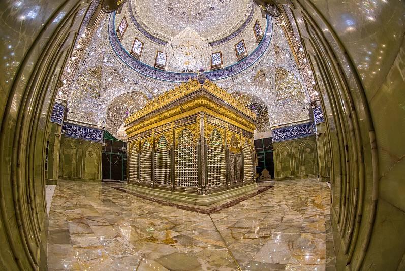 تصویر افتتاح ضریح جدید حرم حضرت ابالفضل العباس، علیه السلام